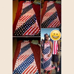 Dresses & Skirts - SOLD! Worn Once! Flag, American, Red White Blue